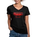 Gamer 3 Women's V-Neck Dark T-Shirt