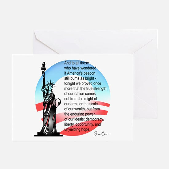 Cute President hope and change Greeting Cards (Pk of 10)