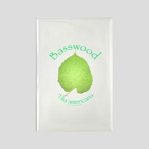 Basswood Leaf 2 Rectangle Magnet
