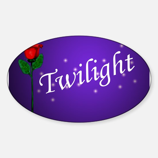 Twilight Rose Oval Decal