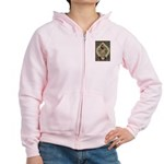 Ornate Vintage Pinup Cowgirl Women's Zip Hoodie