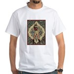 Ornate Vintage Pinup Cowgirl White T-Shirt