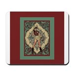 Ornate Vintage Pinup Cowgirl Mousepad