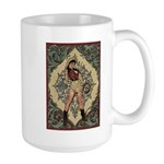Ornate Vintage Pinup Cowgirl Large Mug