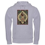 Ornate Vintage Pinup Cowgirl Hooded Sweatshirt