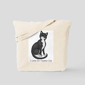 Love My Tuxedo Cat Tote Bag