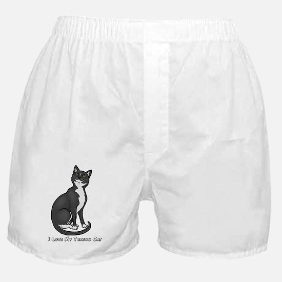 Love My Tuxedo Cat Boxer Shorts