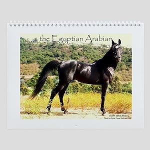 Black Arabian Stallion Wall Calendar