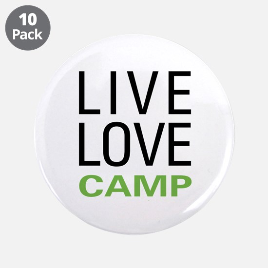 """Live Love Camp 3.5"""" Button (10 pack)"""