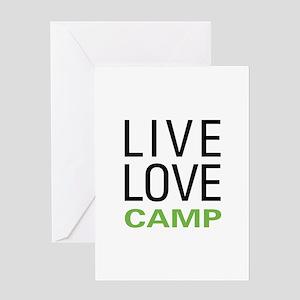 Live Love Camp Greeting Card