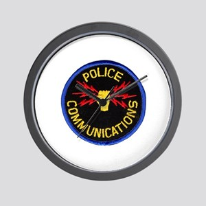 Police Communications Wall Clock