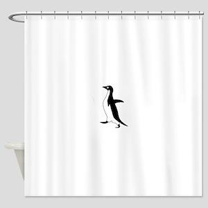 Socially Awkward Penguin (HQ) Shower Curtain