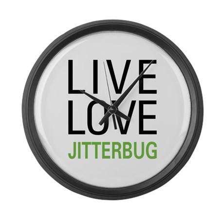 Live Love Jitterbug Large Wall Clock