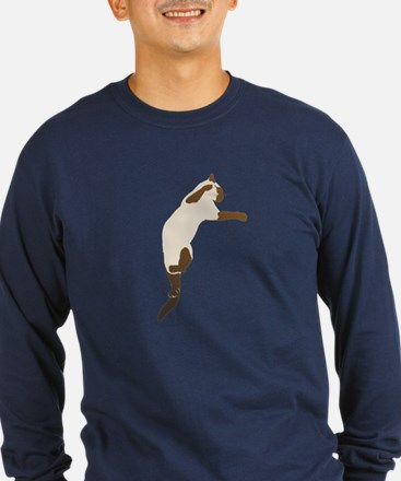 Leaping Siamese Cat T