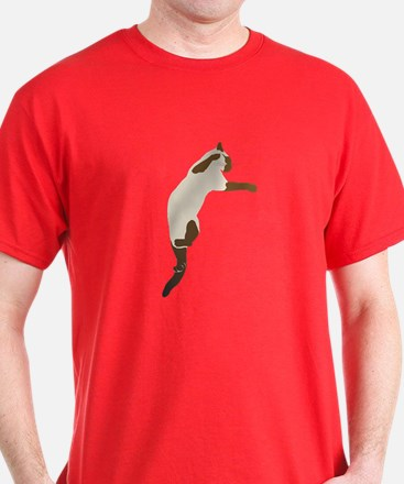 Leaping Siamese Cat T-Shirt