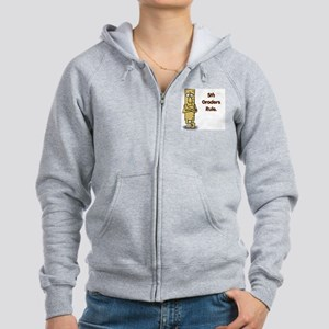 5th Graders Rule Women's Zip Hoodie