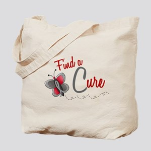 Find A Cure 1 Butterfly 2 GREY Tote Bag