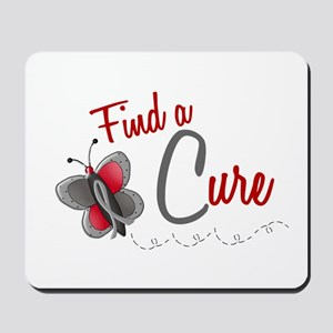 Find A Cure 1 Butterfly 2 GREY Mousepad