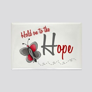 Hold On To Hope 1 Butterfly 2 GREY Rectangle Magne