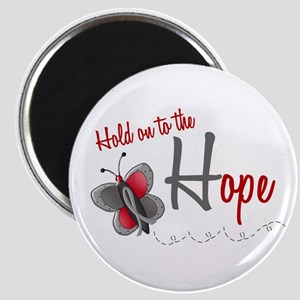 Hold On To Hope 1 Butterfly 2 GREY Magnet
