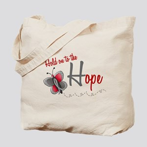Hold On To Hope 1 Butterfly 2 GREY Tote Bag