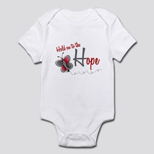 Hold On To Hope 1 Butterfly 2 GREY Infant Bodysuit