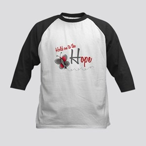 Hold On To Hope 1 Butterfly 2 GREY Kids Baseball J