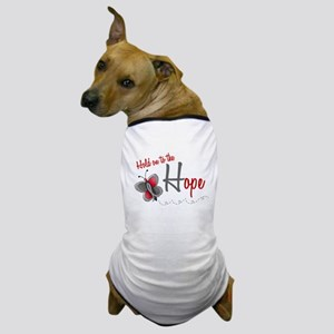 Hold On To Hope 1 Butterfly 2 GREY Dog T-Shirt