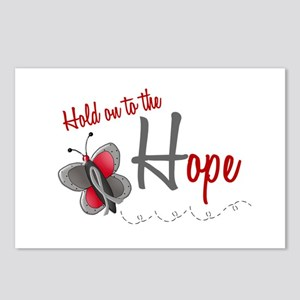 Hold On To Hope 1 Butterfly 2 GREY Postcards (Pack