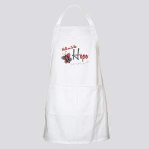 Hold On To Hope 1 Butterfly 2 GREY BBQ Apron