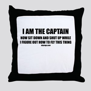 I AM THE CAPTAIN Throw Pillow