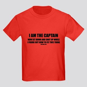 I AM THE CAPTAIN Kids Dark T-Shirt