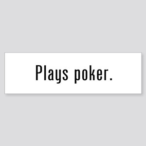 Poker Player Bumper Sticker