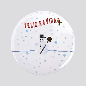 "Feliz Navidad Christmas 3.5"" Button"