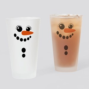 snowman winter Drinking Glass