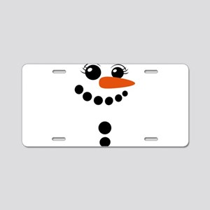 snowman winter Aluminum License Plate