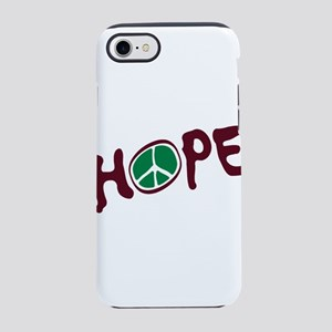 White Hope With Unusual Peac iPhone 8/7 Tough Case
