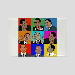 Obama Collage Rectangle Magnet