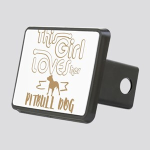 This girl loves her Pittbu Rectangular Hitch Cover