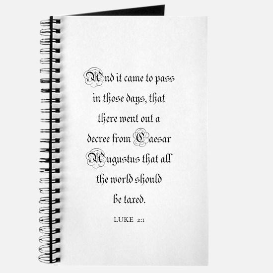 LUKE 2:1 Journal