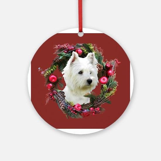 Warm Westie Wishes Ornament (Round)