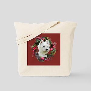 Warm Westie Wishes Tote Bag