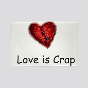Love is Crap Rectangle Magnet