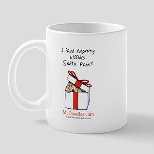 Mommy Kissing Santa Paws Mug