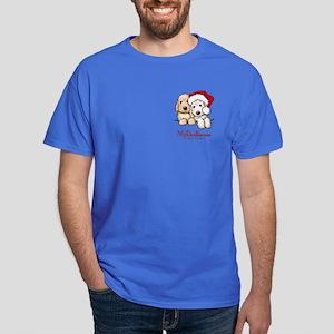 Holiday Pocket Doodle Duo Dark T-Shirt