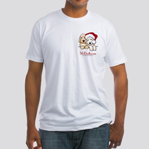 Holiday Pocket Doodle Duo Fitted T-Shirt