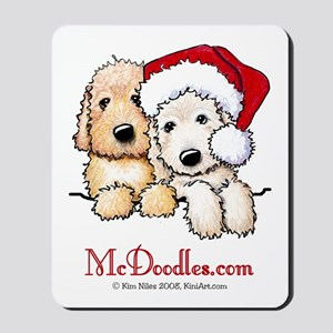 Holiday Pocket Doodle Duo Mousepad
