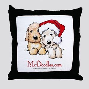 Holiday Pocket Doodle Duo Throw Pillow