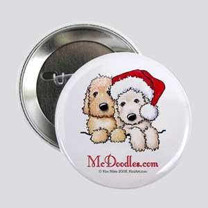 "Holiday Pocket Doodle Duo 2.25"" Button"