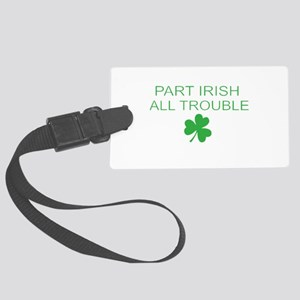Part Iris All Trouble Large Luggage Tag